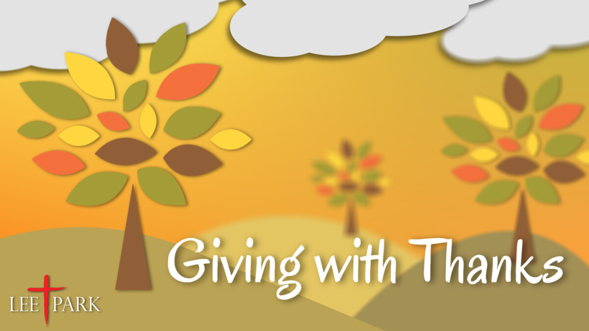 Giving With Thanks